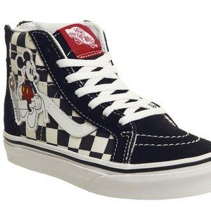 Kids Disney Vans Hi Top Sneakers SZ 1